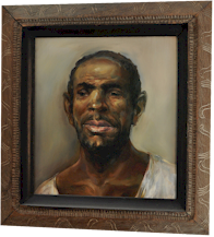 "A portrait of the ""Farm Father"" - a fine example of the works of American painter Robert Roche"